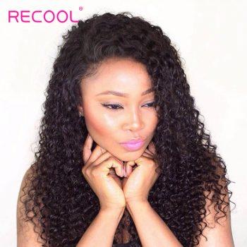 Recool Hair Peruvian Curly Hair Weave 3 Bundles 8A Virgin Hair Bundles Jerry Curly