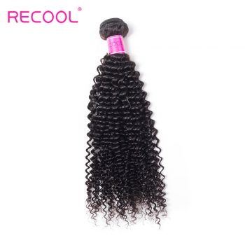 Recool Brazilian Kinky Curly Hair 10 Bundle Deals Remy Human Hair Weave Extensions 8A Grade