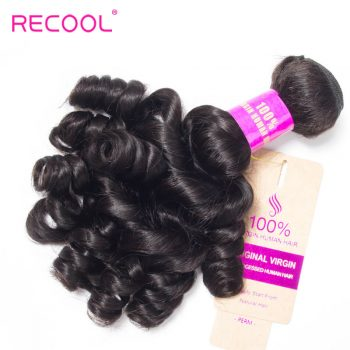 Recool Brazilian Hair Bouncy Curly Hair Weave 10 Bundles Unprocessed Virgin Human Hair Funmi Hair Curls