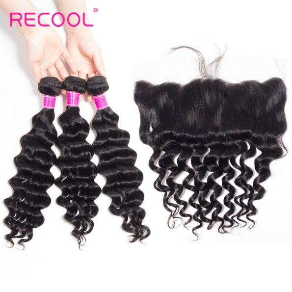 recool hair loose deep 3 bundles with frontal 2