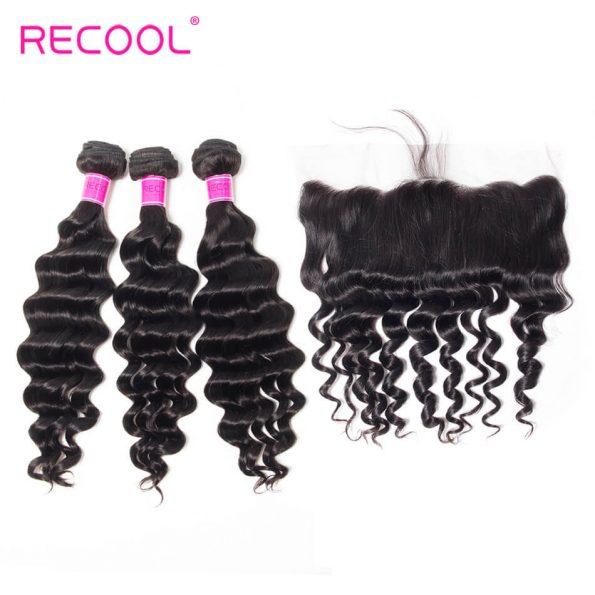 recool hair loose deep 3 bundles with frontal 3