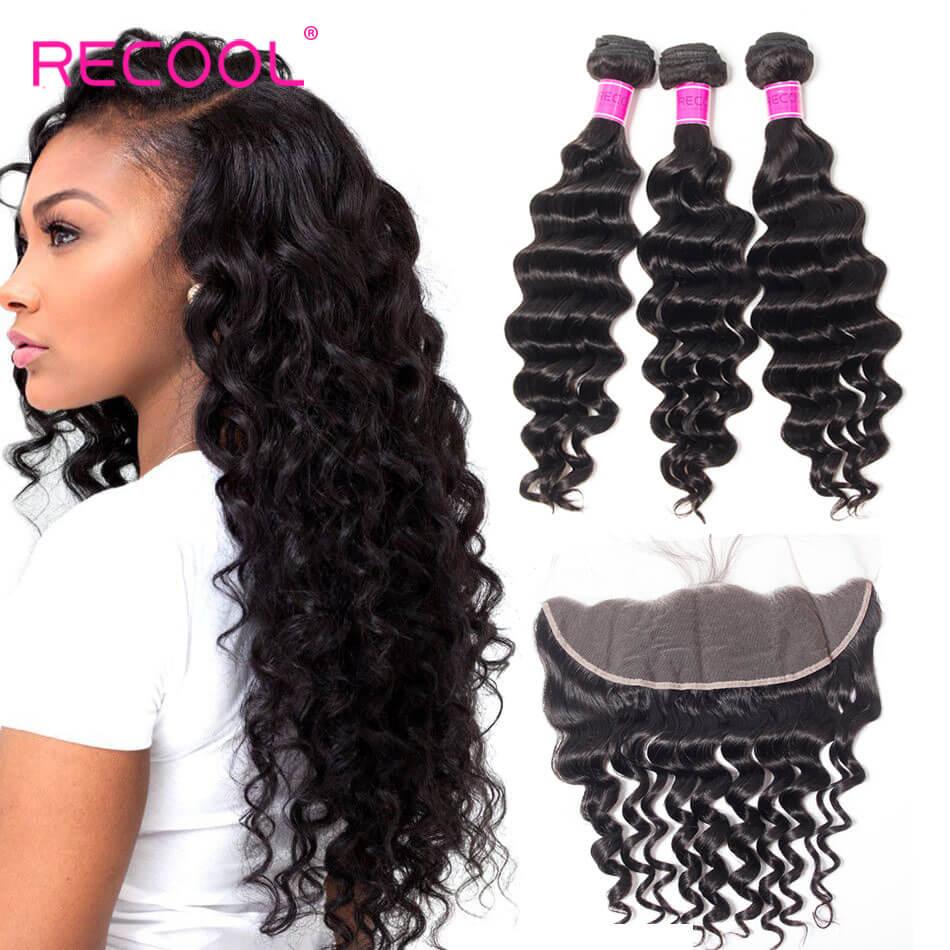 recool hair loose deep 3 bundles with frontal 6