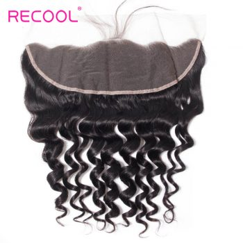 8A Loose Deep Human Hair Extensions 13*4 Frontal