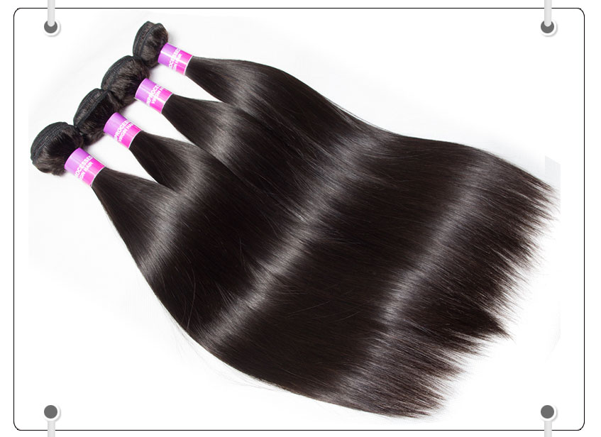 Recool Hair Straight Hair Bundles 100% Virgin Human Hair Weave Bundles 8A Premium Remy Hair