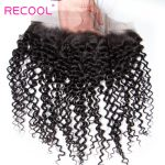 Remy Brazilian Curly Wave 4 Bundles With Lace Frontal Closure