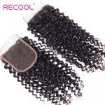 Malaysian Human Hair Curly Wave 4 Bundles with Closure