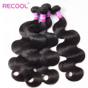 Peruvian Hair Body Wave 4 Bundles Deal Recool Hair 8A Grade Virgin Human Hair Bundles Wavy Hair