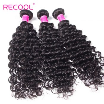 Recool Hair Deep Wave 10 Bundles Wholesale 8A Grade Brazilian Deep Curly Virgin Human Hair
