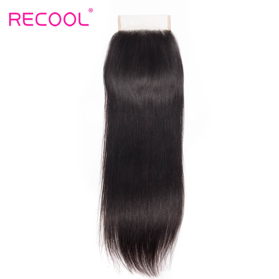 Recool Straight Human Hair 5x5 Lace Closure 1 PCS