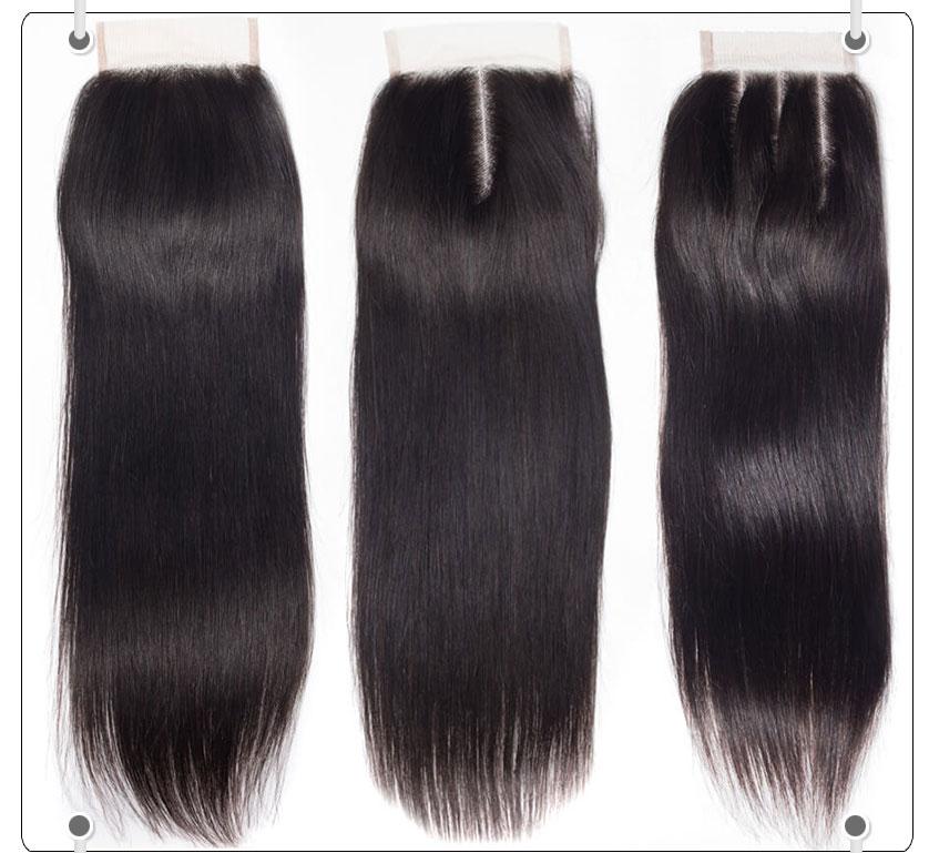 Brazilian Straight Virgin Hair 3 Bundles With Closure Recool Hair