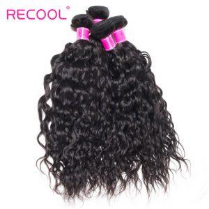 Water Wave Bundles 4 Pcs/Lot Recool Hair Peruvian Wet And Wavy Virgin Human Hair Weave Bundles