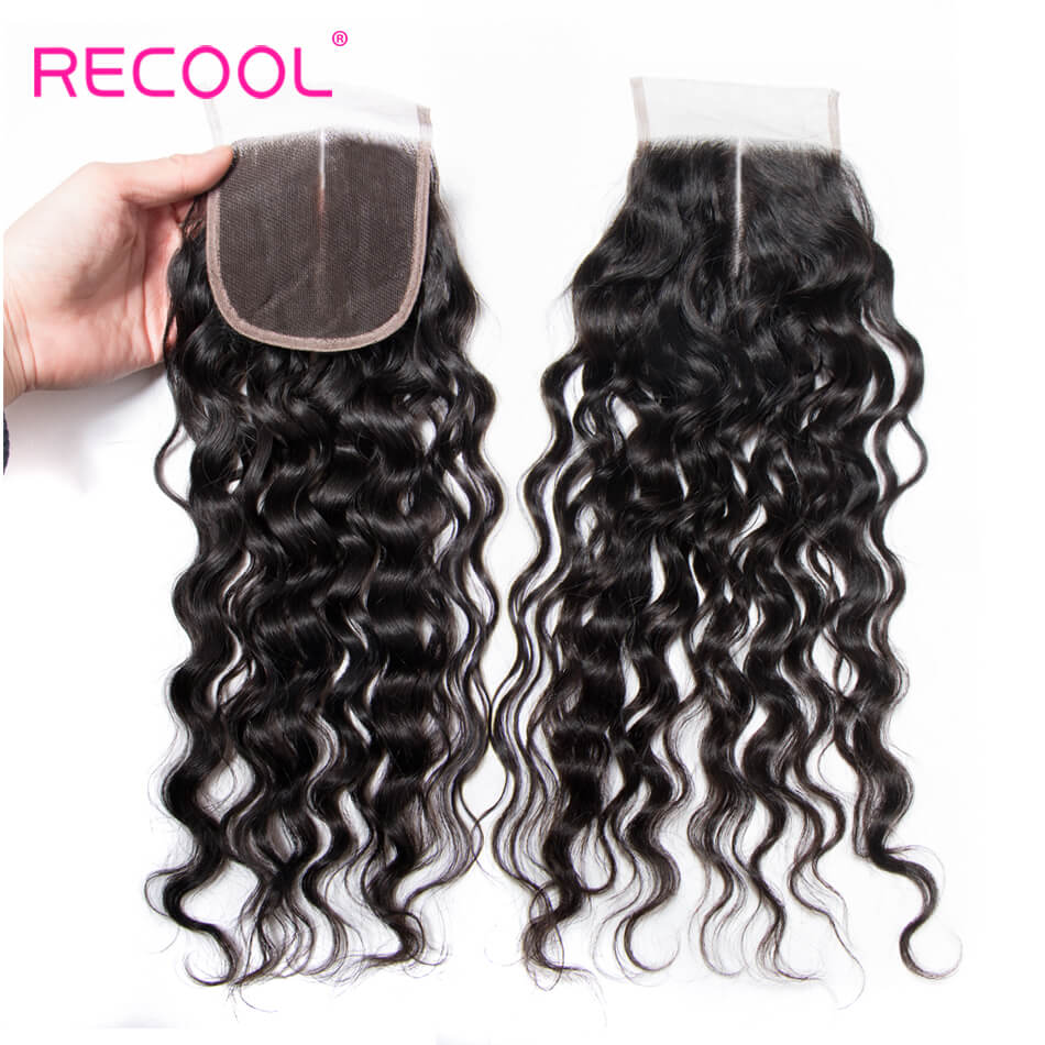 Wet and Wavy Human Hair 5X5 Closure Water Wave 1 PCS