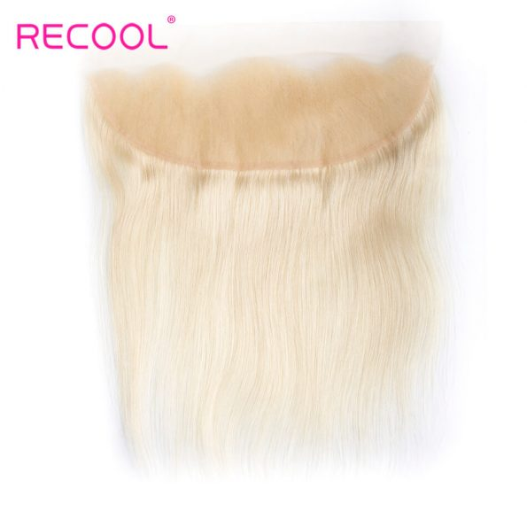 613 Blonde Virgin Human Hair Straight 3 Bundles With Lace Frontal Honey Blonde Brazilian Straight Hair 8A Human Hair Extensions 5
