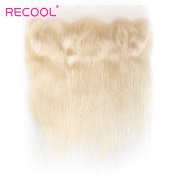 613 Blonde Virgin Human Hair Straight 3 Bundles With Lace Frontal Honey Blonde Brazilian Straight Hair 8A Human Hair Extensions 6