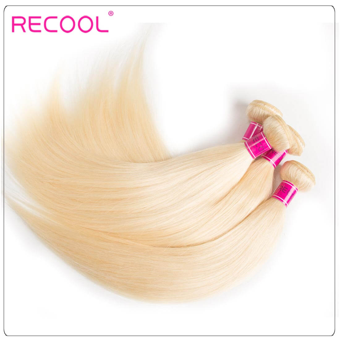 613 Blonde Virgin Human Hair Straight Bundles Honey Blonde Straight Hair 8A Human Hair Extensions 2