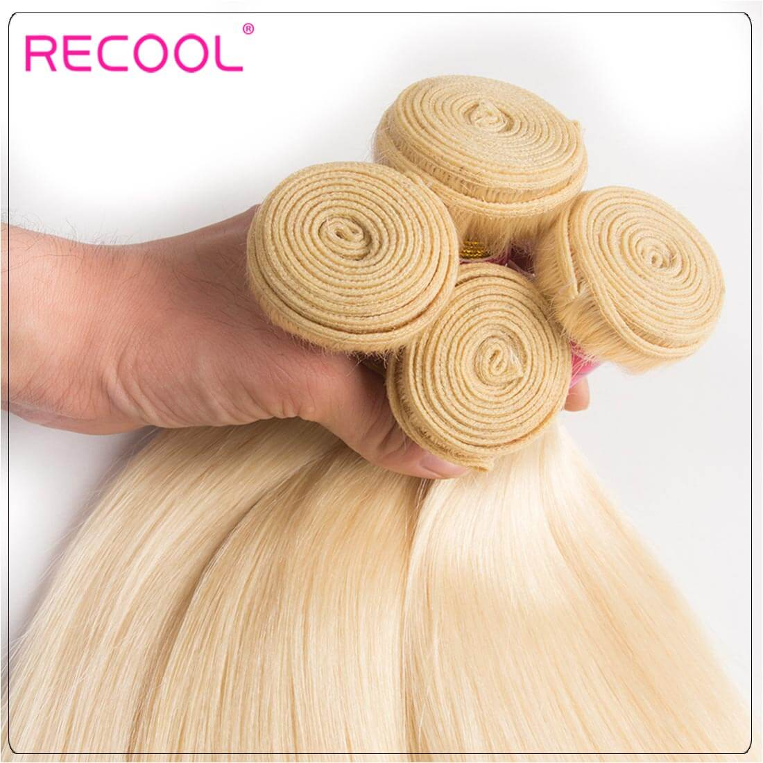 613 Blonde Virgin Human Hair Straight Bundles Honey Blonde Straight Hair 8A Human Hair Extensions 4