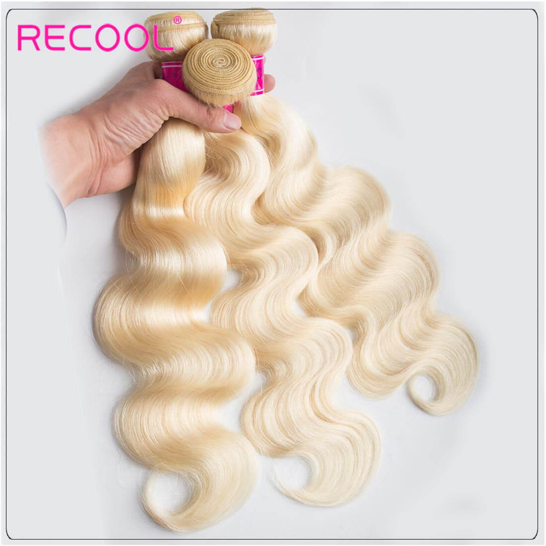 Blonde Hair Bundles 613 Virgin Hair Body Wave, 100% Virgin Blonde Human Hair Weave Body Wave Bundles 1