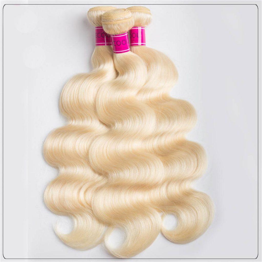 Brazilain Blonde Hair 3 Bundles 613 Virgin Hair Body Wave
