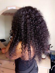 curly virgin hair