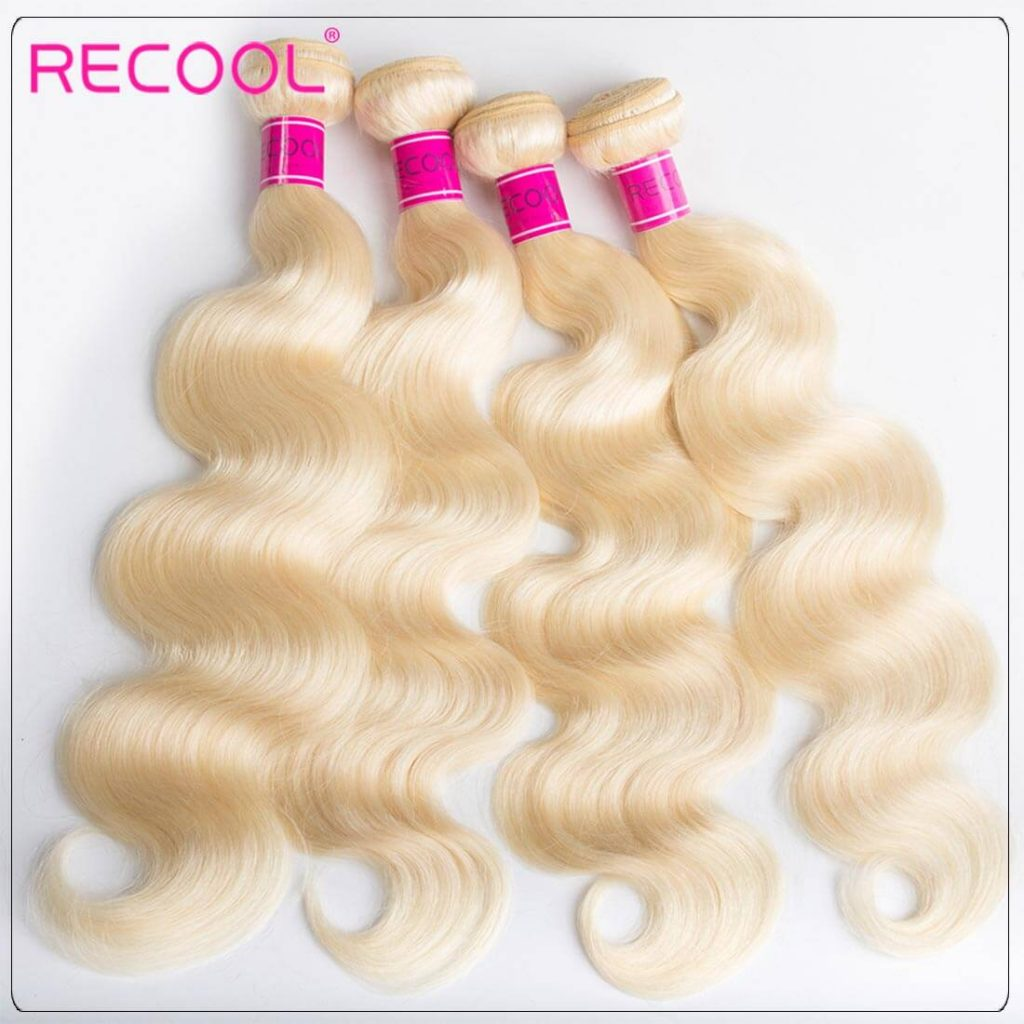 613 Blonde 4 Bundles Body Wave Blonde Weave Human Hair Weave 02