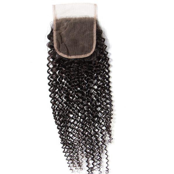 Kinky Curly Virgin Hair Lace Closure 1