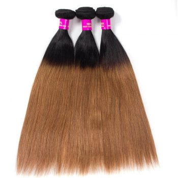 Brazilian Ombre Straight Hair 1B/30 Virgin Human Hair Bundles