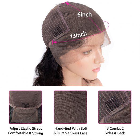 13×6 wig cap details