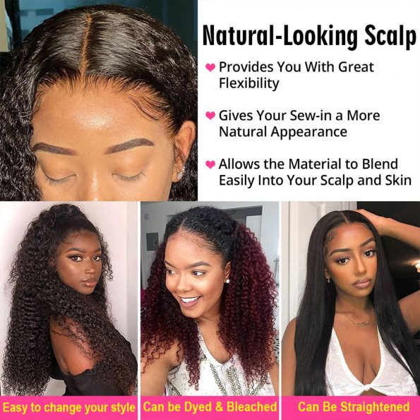 360 lace frontal deep wave wig 4