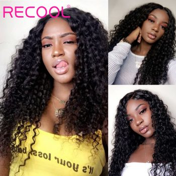 4x4 deep wave lace closure wig