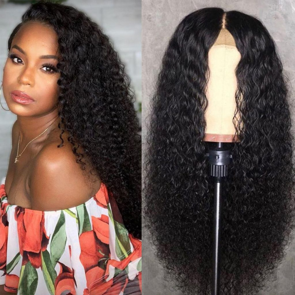 6×6 lace closure curly wig 1