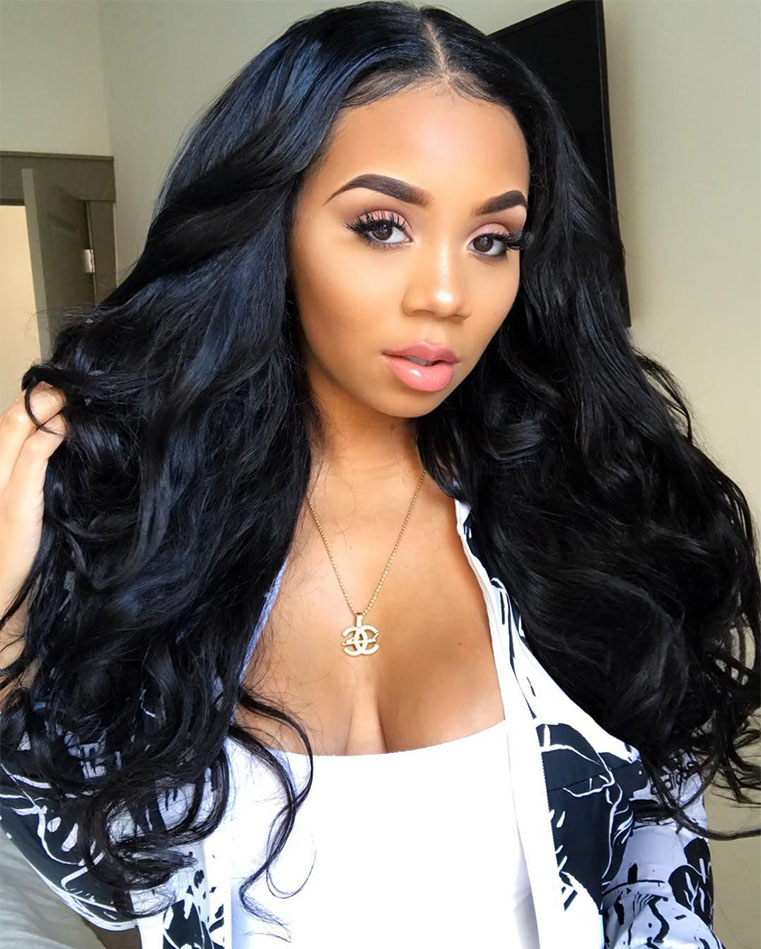 Body Wave Hair 13×4 Lace Front Wig Pre Plucked With Baby Hair