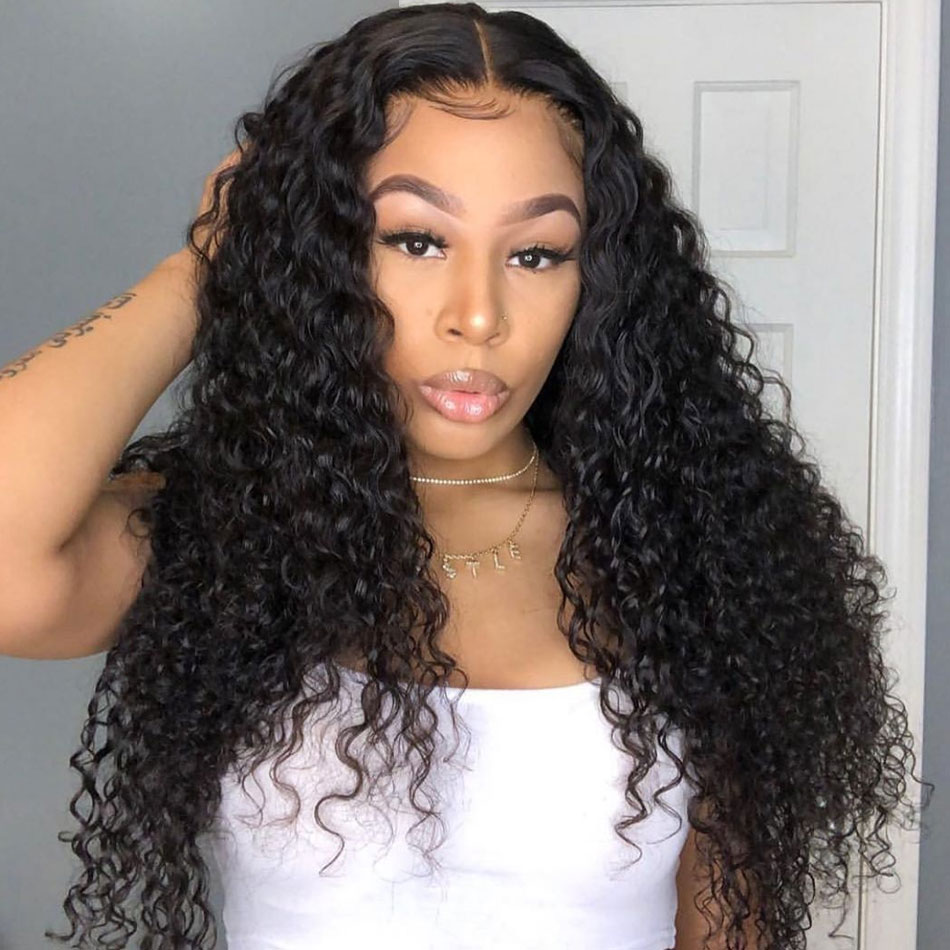 Brazilian Deep Wave 13×4 Lace Closure Human Hair Wigs