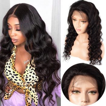 Brazilian Loose Deep Wave 13x4 Lace Front Human Hair Wigs