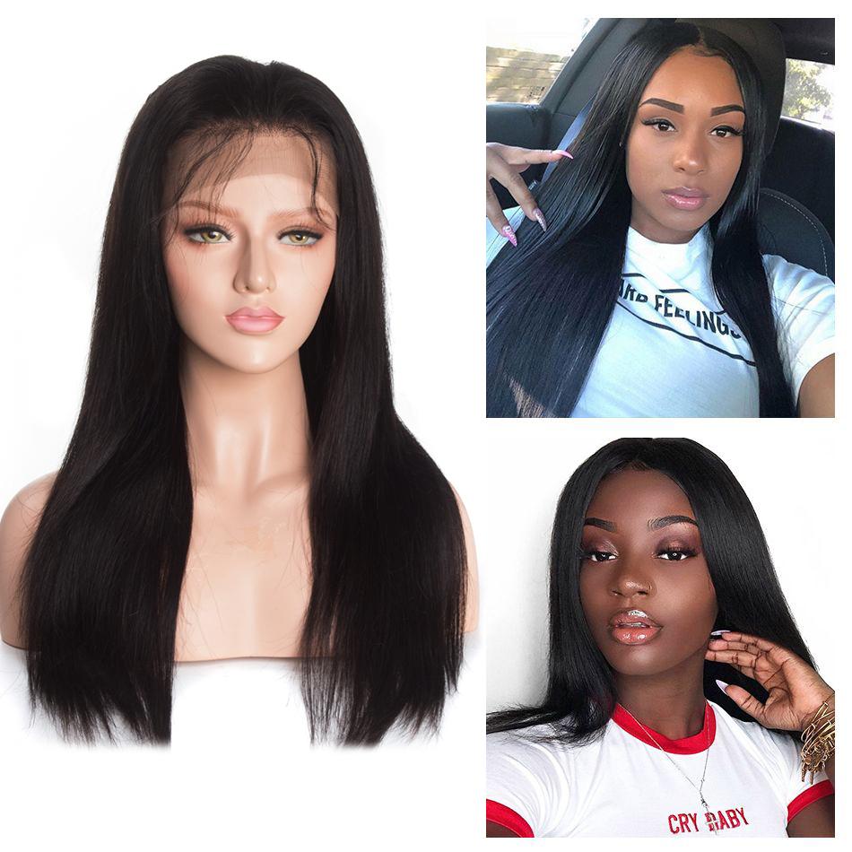 Brazilian Straight 13×4 Lace Closure Human Hair Wigs