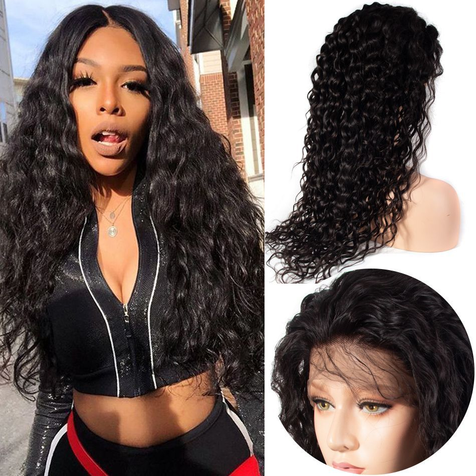Brazilian Water Wave 360 Lace Frontal Human Hair Wigs