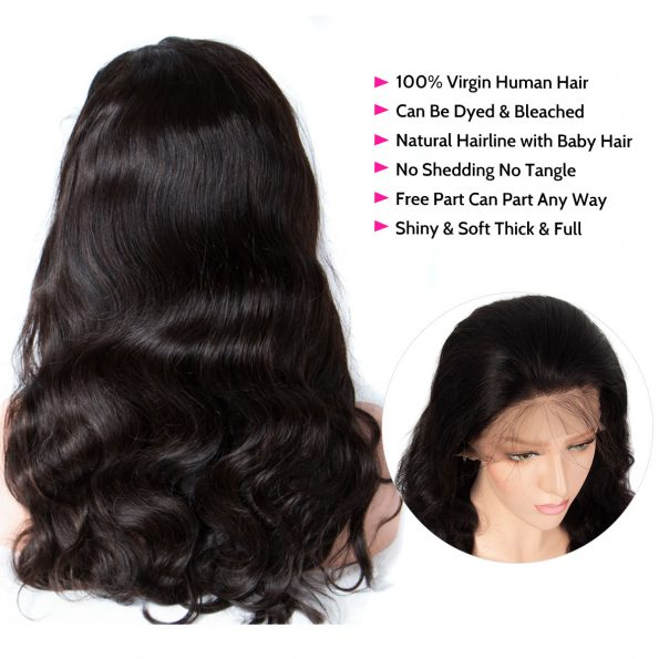 body wave wig details