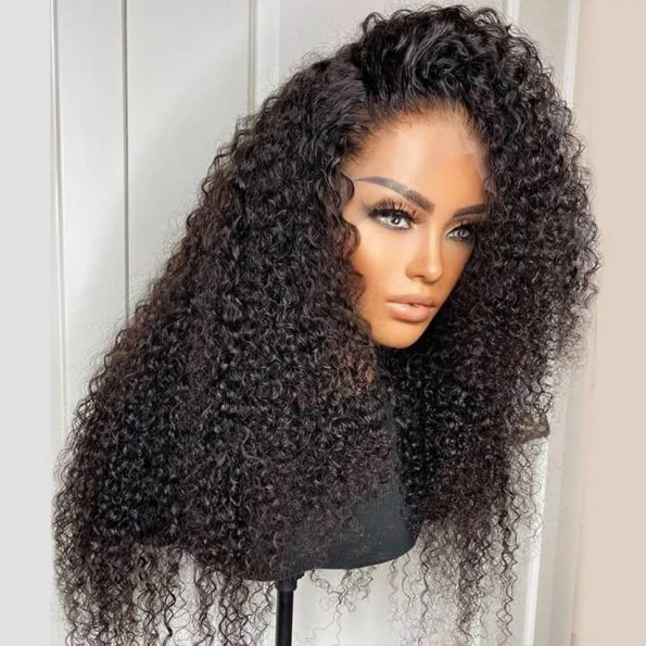curly HD lace wig 4