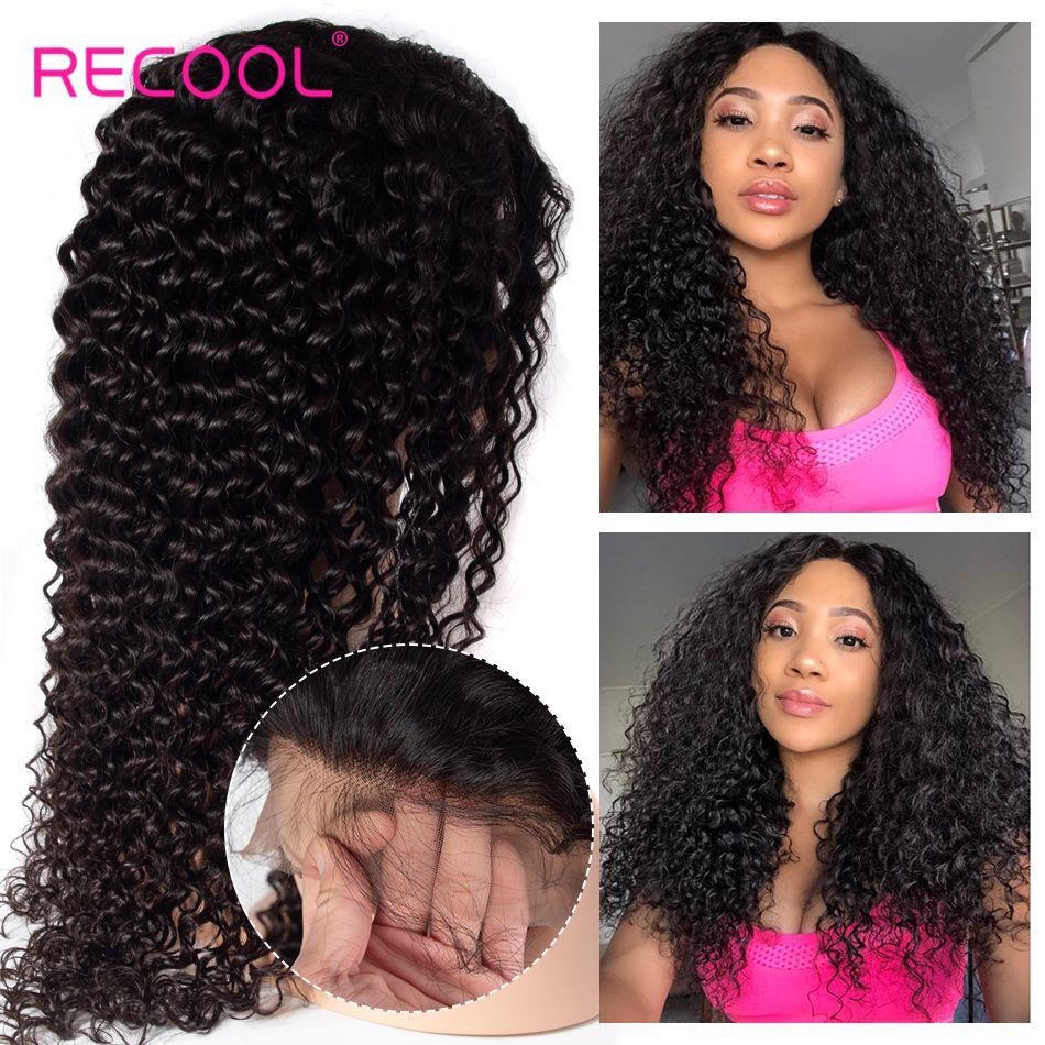 deep wave hair lace front wigs