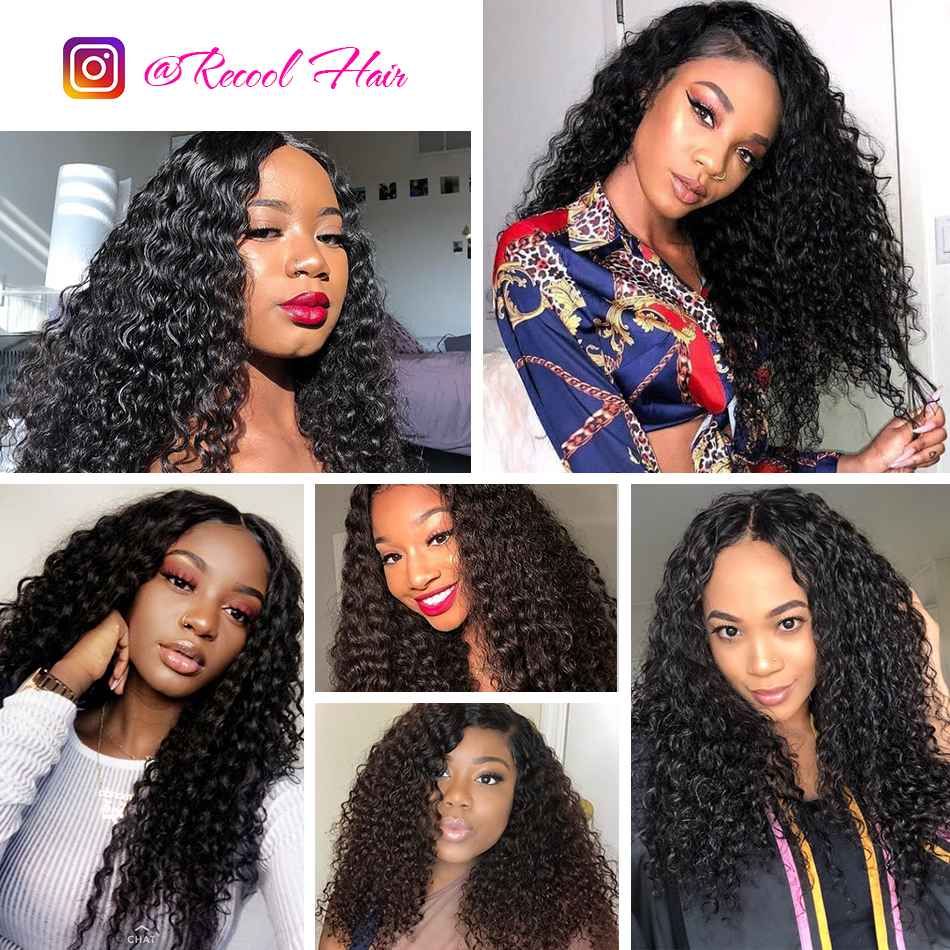 deep wave human hair lace front model show
