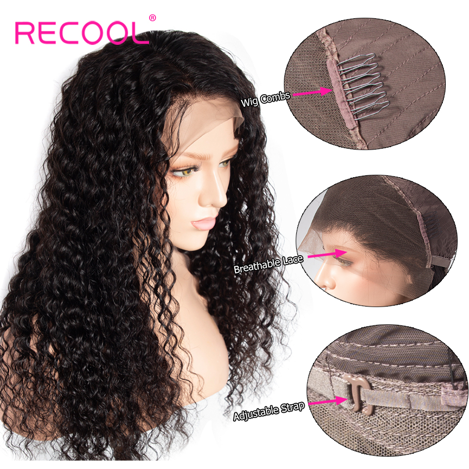 deep wave human hair lace front wig 1