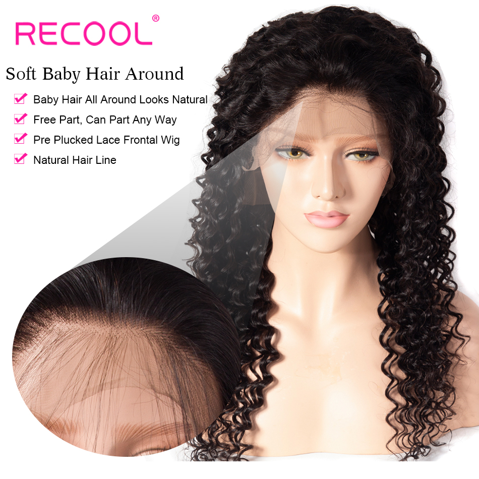 deep wave human hair lace front wig 2