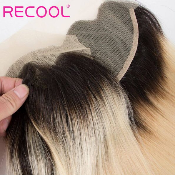 recool hair T1B 613 straight lace frontal