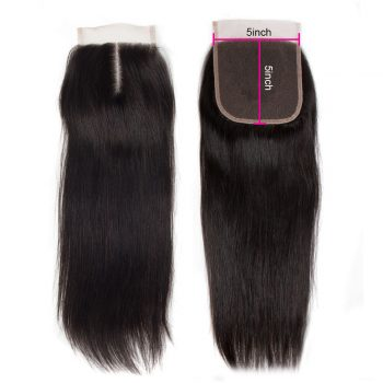 Virgin Straight Human Hair 5X5 Lace Closure