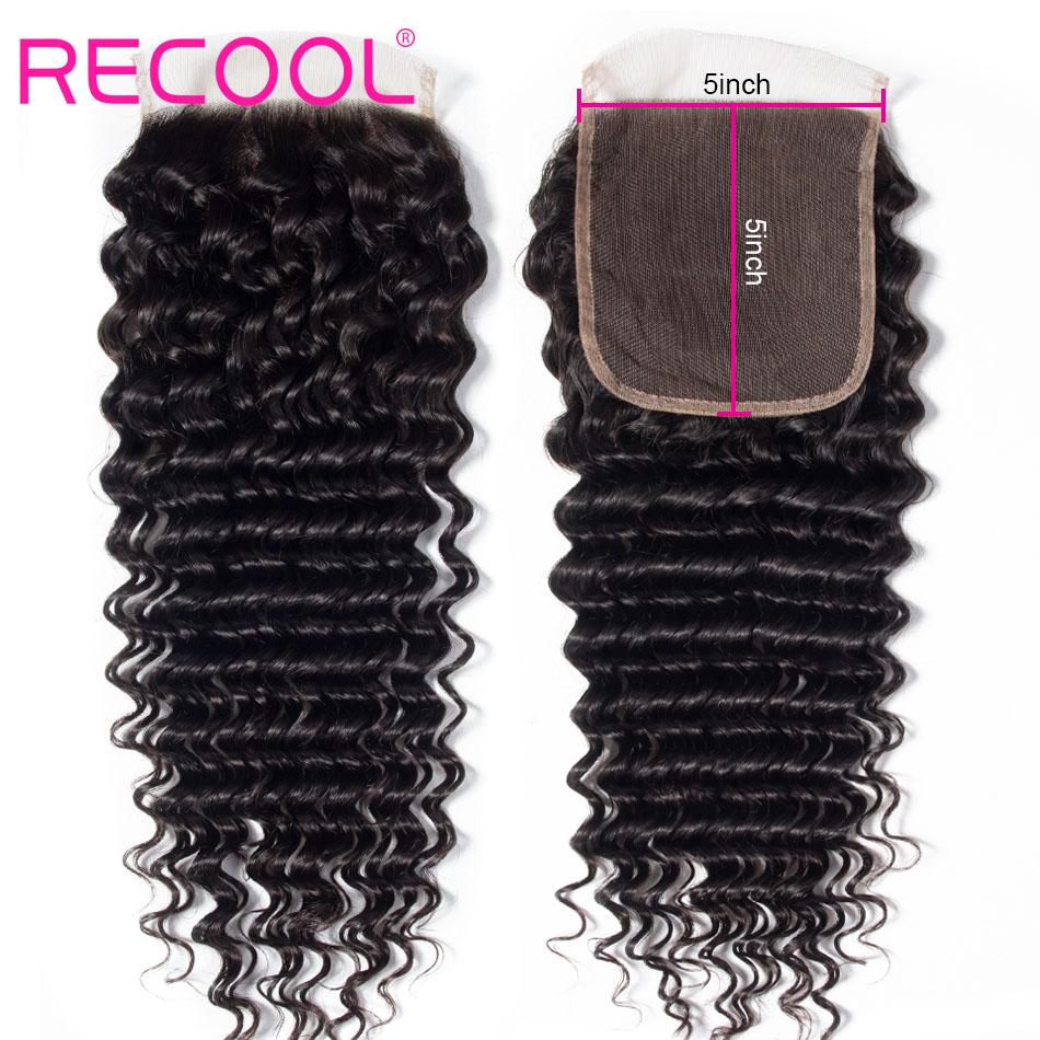 deep wave hair 5x5 lace closure
