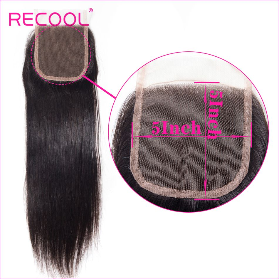 straight Hair 5x5 lace closure