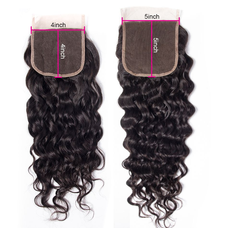 water wave human hair 5x5 lace closure 1