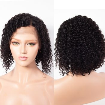 curly wave bob lace front wig