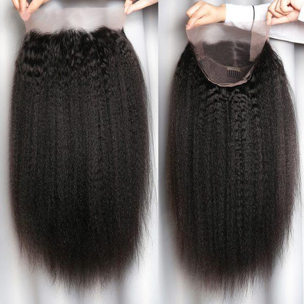 13×4 kinky straight wig 1