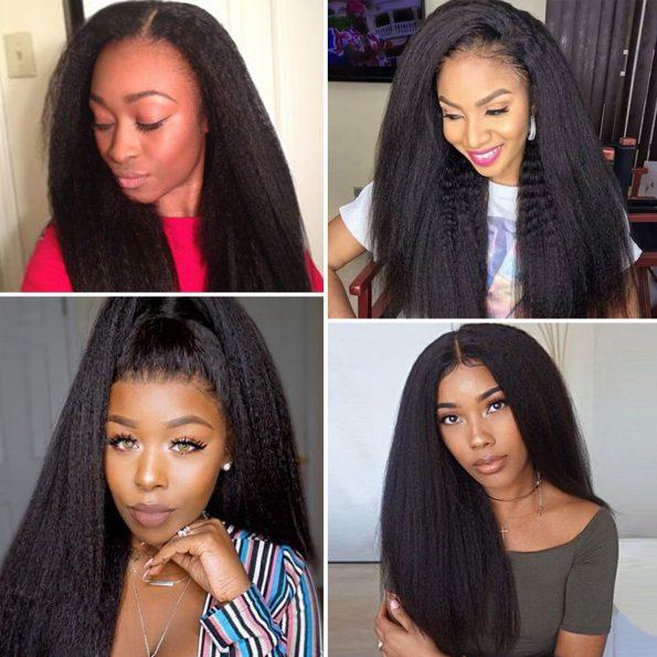 13×4 kinky straight wig 2