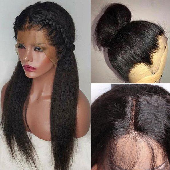 13×4 kinky straight wig